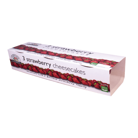 Strawberry Cheesecake 100g Triple Pack